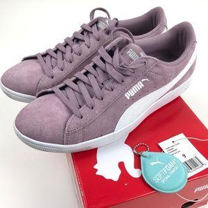 Like New PUMA Vikky Suede Sneaker Shoes Elderberry
